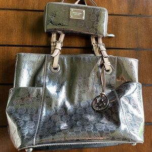 Metallic Michael Kors Purse and Wallet